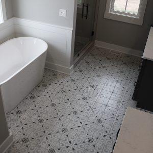 Bathroom, floor, ceramic