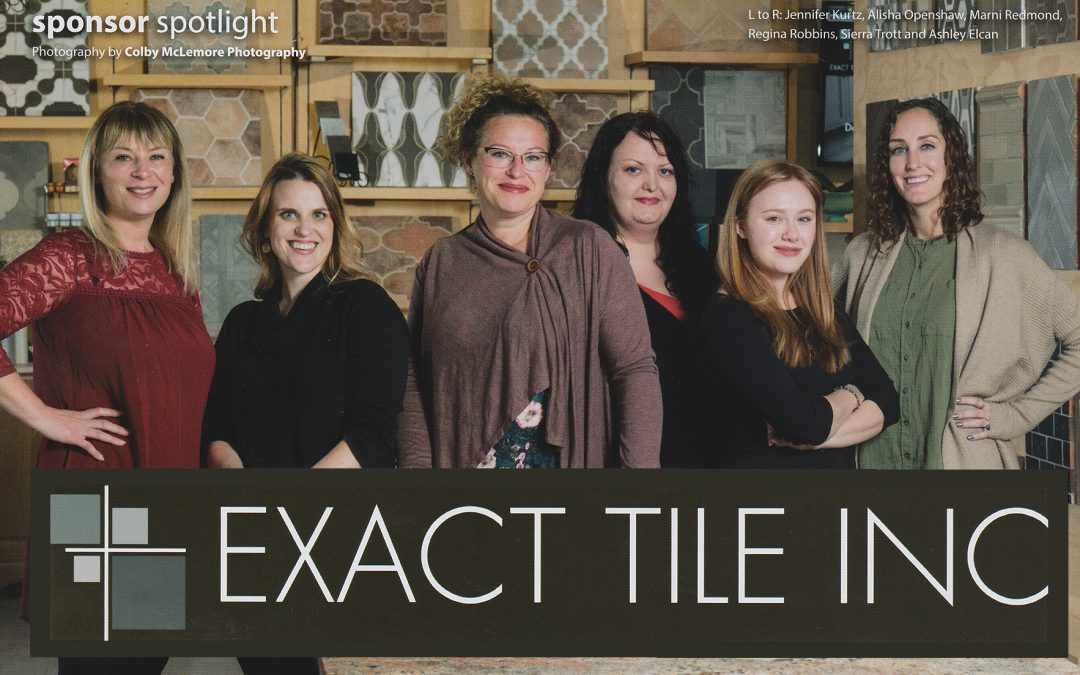 Exact Tile Inc featured in Sequoyah Hills Living Magazine's Sponsor Spotlight